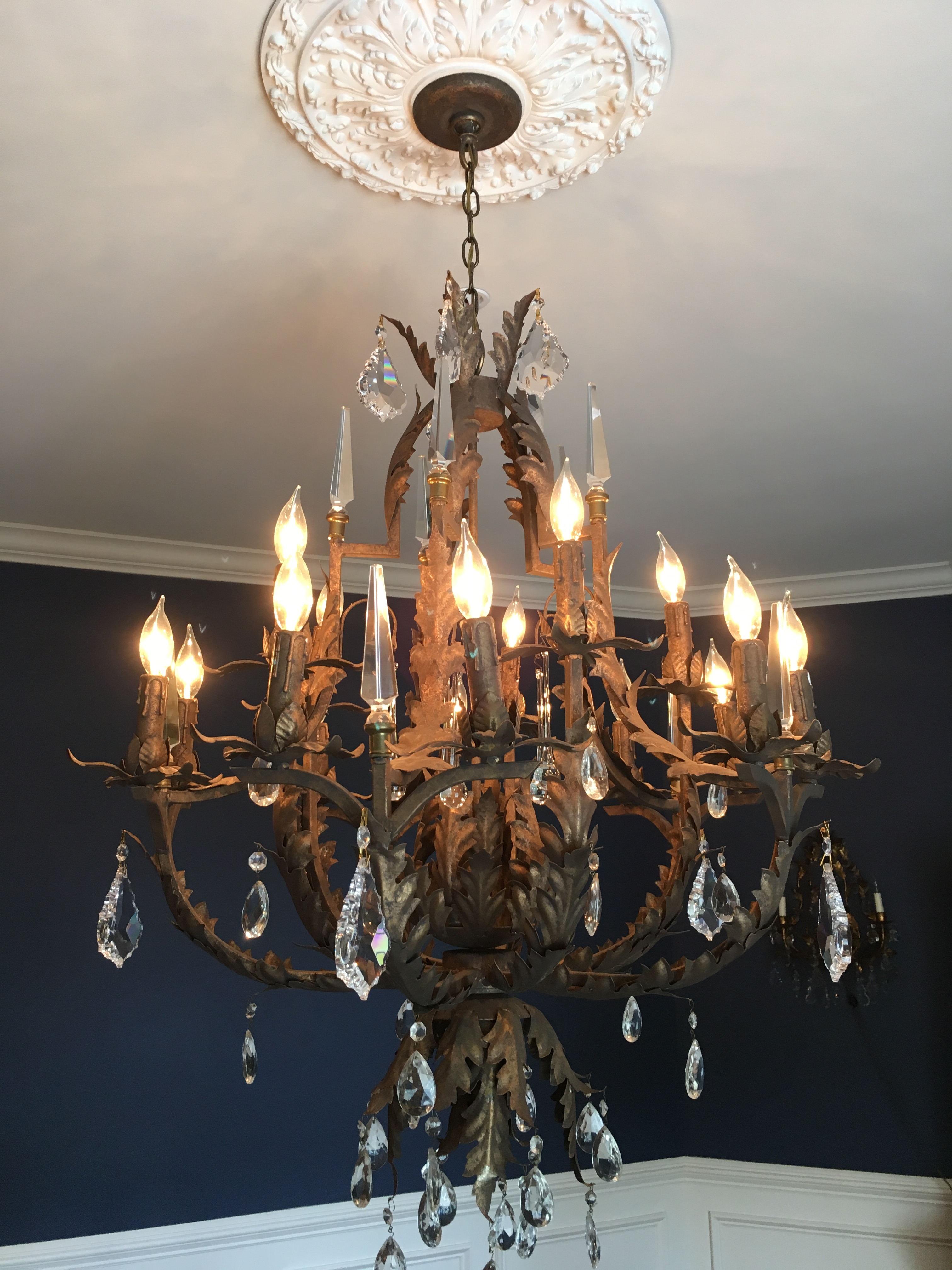 Awesome via chandelier collection fantastic diy chandelier ideas crystal chandelier via consignment store dells daily dish aloadofball Gallery