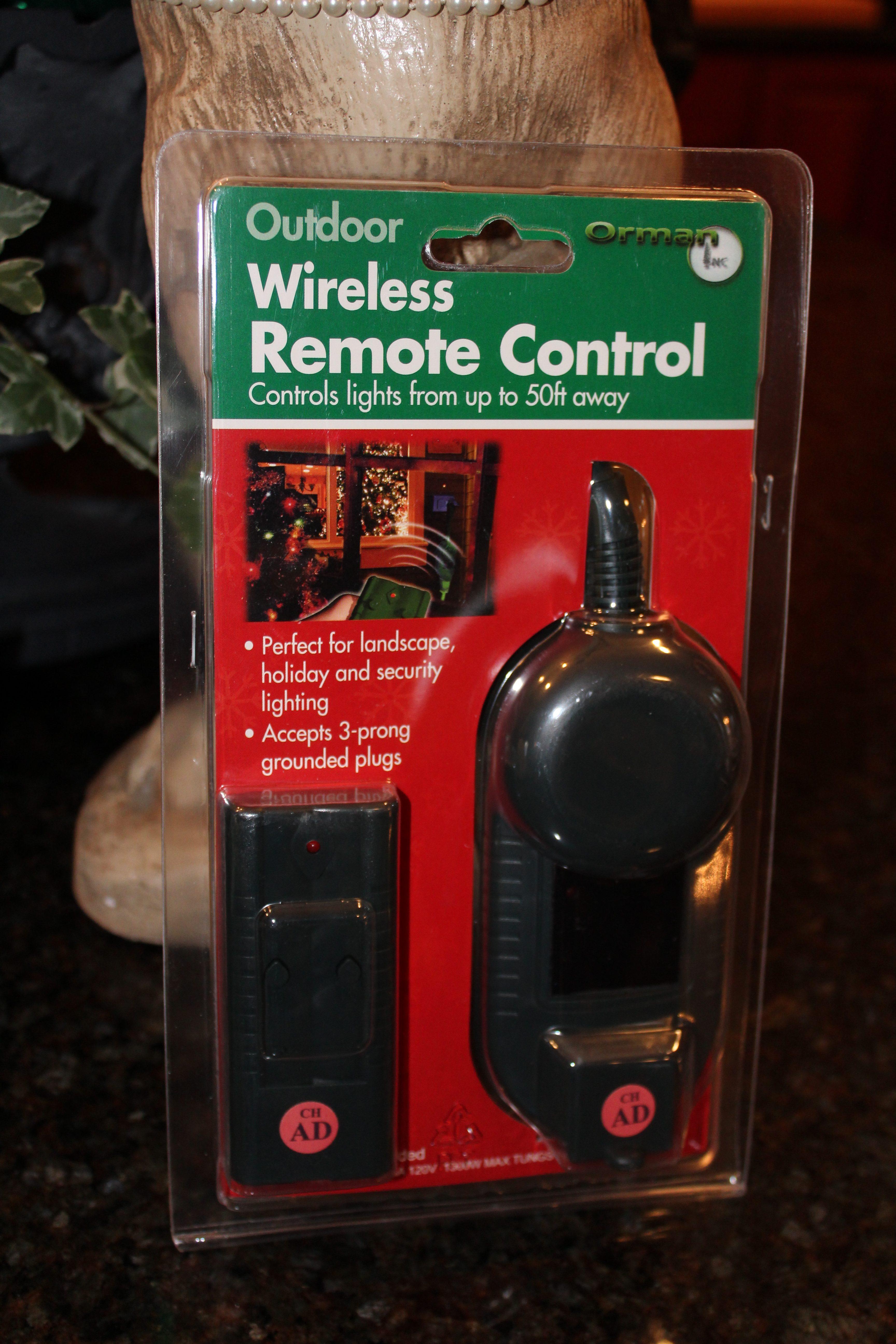Outdoor Wireless Remote Control Dells Daily Dish