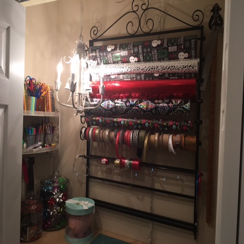 Gift wrapping station throwback thursday dells daily dish this past christmas i treated myself to a gift wrapping station in our basement we already had a work surface carved out of a closet but i wanted to solutioingenieria Choice Image