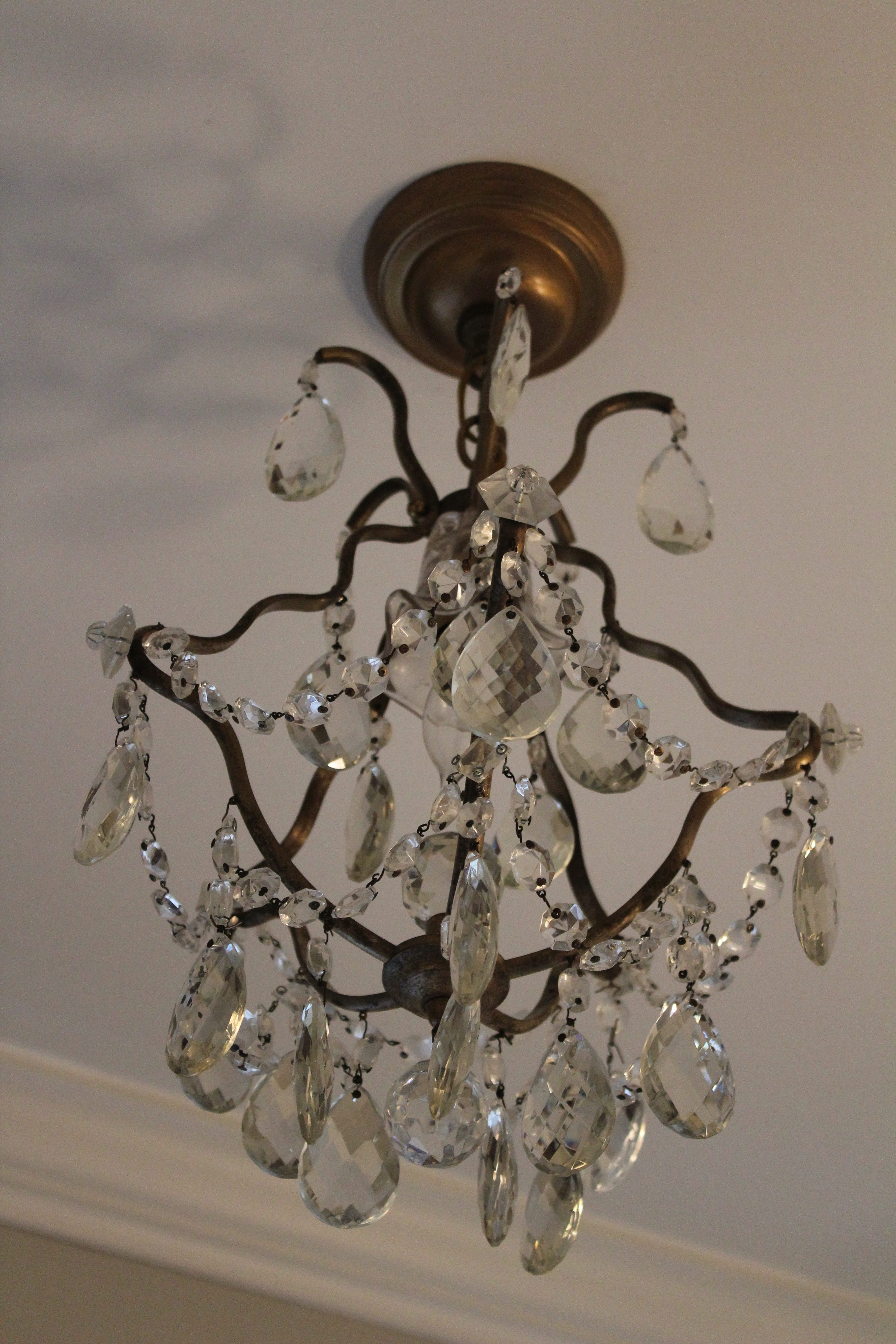 Petite chandeliers where to use them dells daily dish as long as i can remember ive loved crystal chandeliers i think if i try hard i can find a place for one in every room and closet aloadofball Gallery