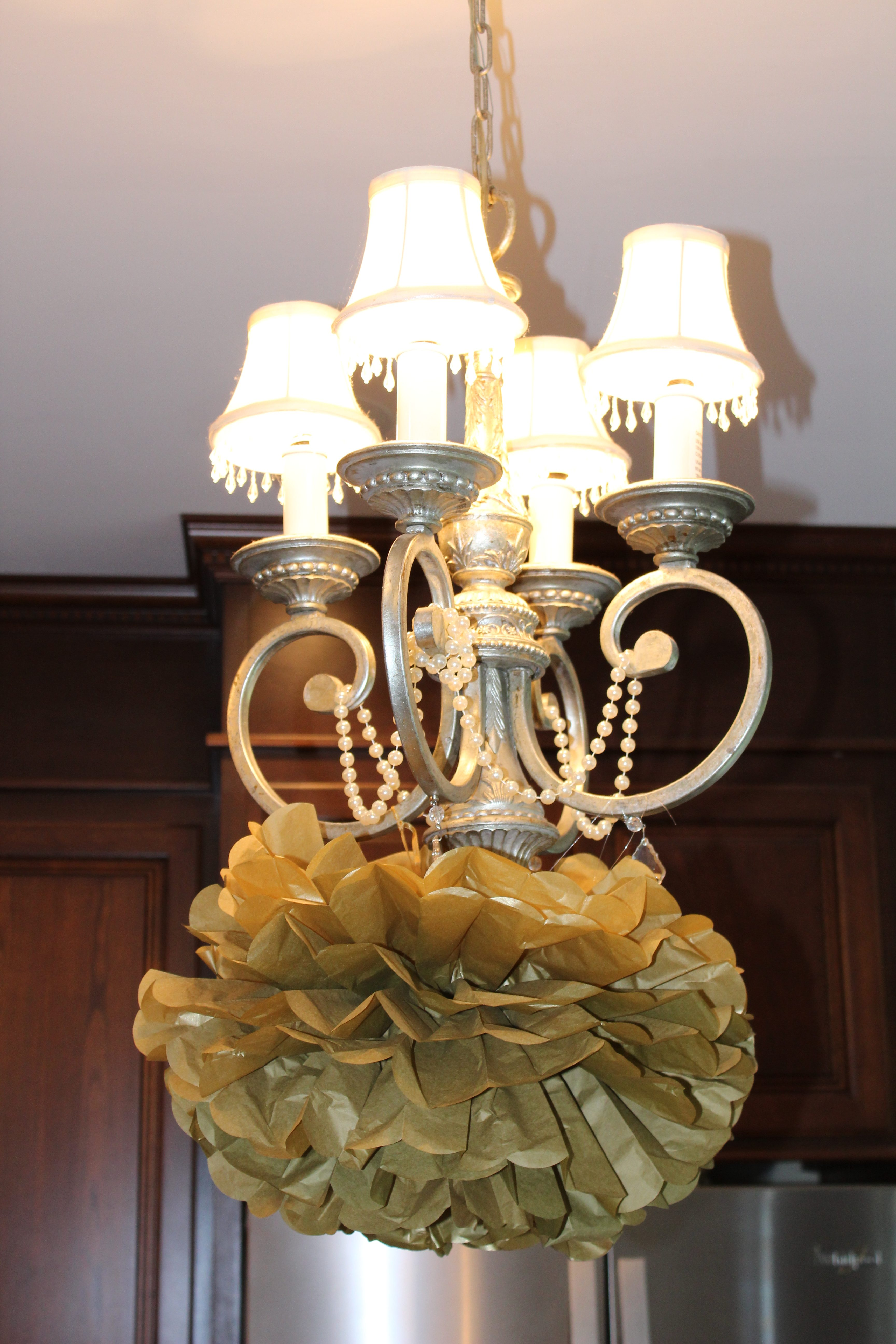 Petite chandelier rescue dells daily dish today i want to share with you some adorable little chandeliers i found for my brother and sister in laws house you wont believe the transformation aloadofball Gallery