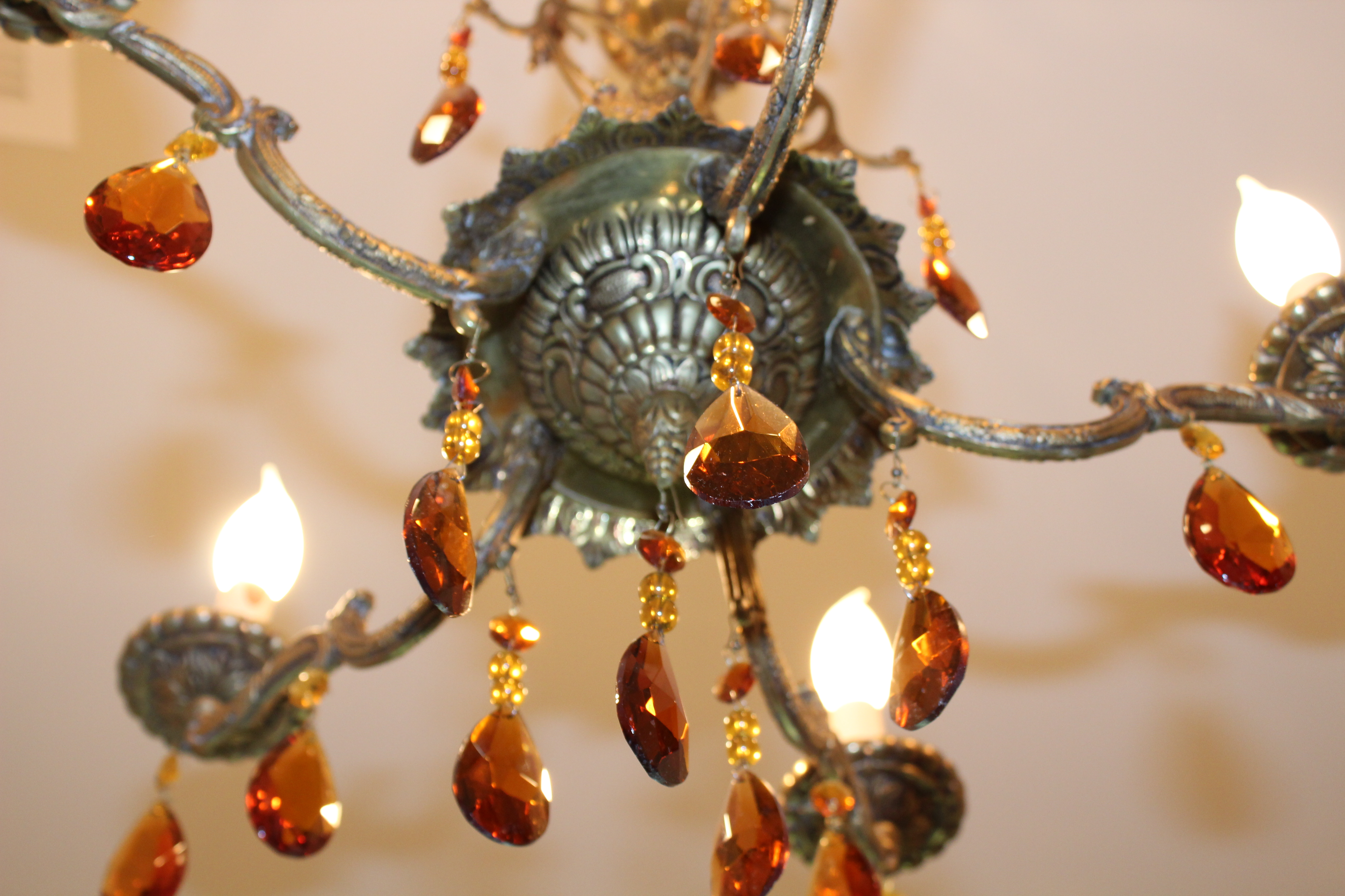 A manly closet chandelier dells daily dish